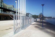 Vallado perimetral del Pabellón de la Navegación. Sevilla.